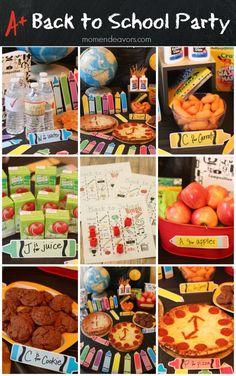 Simple Back to School Party - easy, creative ideas! #backtoschool