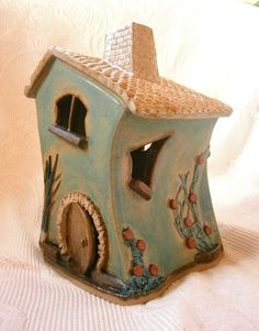 "Ceramic Welsh ""Fairy House"" or ""Tŷ Tylwyth Teg"", ideal for the garden or indoors"