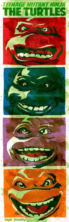 The Turtles - A Pop Art Day's Night, via Behance Leonardo, Rafael, Donatelo y Miguel Ángel... mi infancia querida