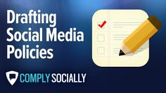 http://complysocially.com/online-social-media-policy-training/social-media-policy-development/ Learn how to draft a fair, responsible social networking policy that encourages personnel to share the organization's news and information online in this self-paced, online course that you can take right now.