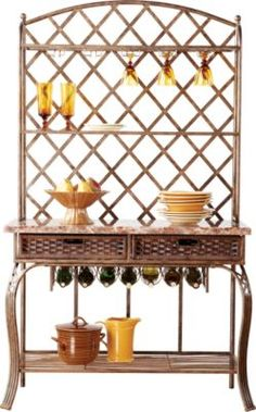 x x Find affordable China Cabinets for your home that will complement the rest of your furniture. French Country Kitchens, French Kitchen, Country French, Bakers Rack, At Home Furniture Store, China Cabinets, Shelves, Room, Vintage