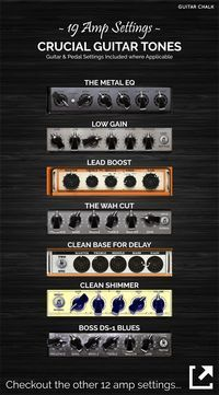 Guitar amp settings   do   Pinterest   Note  Awesome and