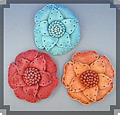 Leather Flower Brooch handmade for Lapel or Hat .....