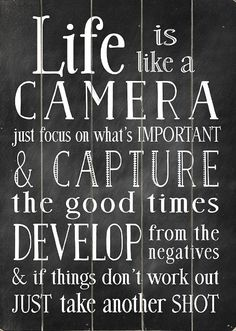 'Life Is Like a Camera' Wood Wall Art