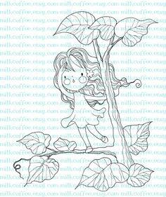 Digital Stamp Lisbeth at the Tree