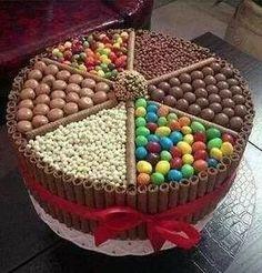 Torta con chocolates