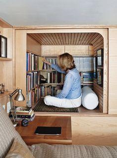 Appartamento di 22 metri quadrati con libreria a New York | Vanilla MagazineVanilla Magazine