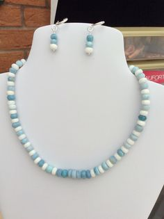 SOLD - Opal and white Quartz necklace - see Double MM Jewellery on FB!