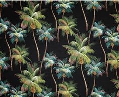 Palm Tree Fabric by Dean Miller