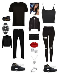 """Outfit for Saturday"" by mayawhite04 on Polyvore featuring Gucci, Tom Ford, Emporio Armani, Topshop, MANGO, Chanel, Winky Lux and Topman"