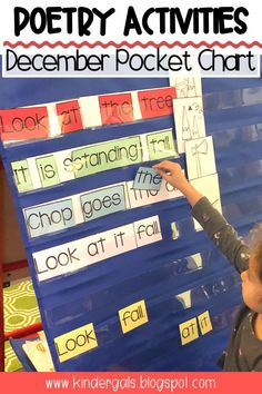 Teaching kids print concepts is easy with this pocket chart activity. This funny poem is perfect for kids to recite during the Christmas season. Kindergarten and first grade kids can match words to make sentences as well as sequence picture to tell the poem. #poetry #pocketchart #sightwords Name Activities, Hands On Activities, Classroom Activities, Classroom Ideas, Poetry Center, Environmental Print, Funny Poems, Kindergarten Language Arts, Nursery Rhymes Songs