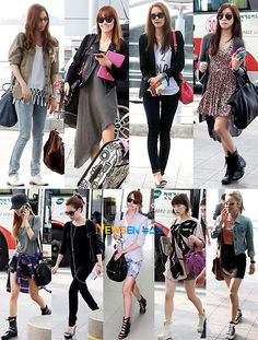 Seohyun's top, Jessica's jacket, Taeyeon's TOP, Tiffany's hair and bag, and Yuri's boots :3