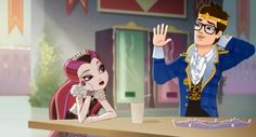 ever after high raven queen and dexter charming - Google Search
