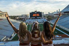 University of Texas Cheerleaders in Austin, Texas Texas Cheerleaders, College Cheerleading, College Football, Austin Texas, The Austin, Education College, College Life, Ut Longhorns, Visitors Bureau