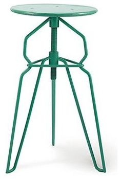 Danish Modern Adjustable Height Bar Stool, Turquoise contemporary bar stools and counter stools
