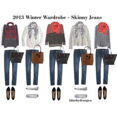 """Winter Wardrobe - Skinny Jeans"" by bluehydrangea on Polyvore"