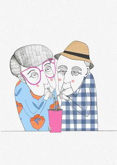 Lisa Loffredo illustrations, Old couple