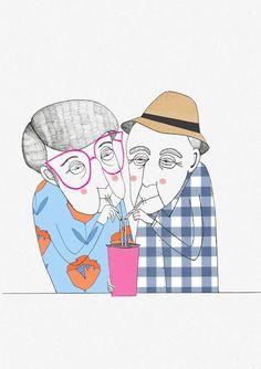 Lisa Loffredo illustrations, Old couple
