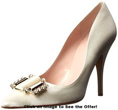 pumps: kate spade new york Women's Laylee Dress Pump, Ivory Satin, 9 M US Shoes Heels Boots, Heeled Boots, Toe Shoes, Pointed Toe Pumps, Peep Toe, Vintage Shoes, Me Too Shoes, Kate Spade, York