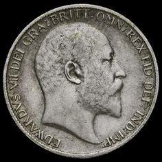 1904 Edward VII Silver Sixpence, Rare, AVF