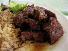 Delicious Bajan Beef Stew…lovely Bajan Sunday food #Yumm #SouthGapHotel http://on.fb.me/17smUl5