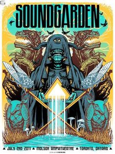 Soundgarden Toronto 11 Munk One - Rock Posters, Band Posters, Film Posters, Poster Art, Kunst Poster, Gig Poster, Concert Flyer, Concert Posters, Festival Posters