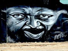 Malangatana By Shot.B : Parte do mura de 300m do artista Shot.B em maputo av OUA...   shotb