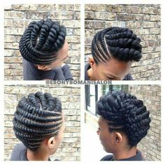Chunky Twisted Updo