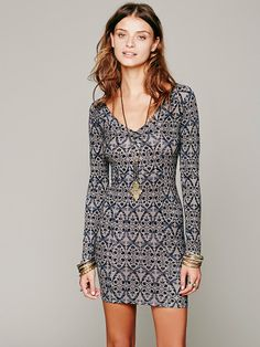 Free People Strapped Up Print Bodycon, $98.00