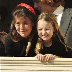 princess alexandra of hanover with her mother, princess caroline