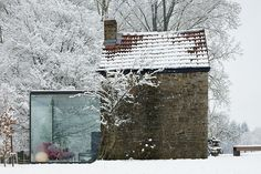 Outhouse transformed into a bed and breakfast at Belgium. Lovely. Check the indoor pics too.
