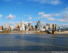 When I worked in Cincinnati, I actually lived in Fairfield (a suburb just north of town) and in Covington, KY (just across the river). This show is the view of the Cincinnati skyline from the Covington side. Cincinnati Skyline, View Image, New York City, Ohio, Covington Ky, New York Skyline, Beautiful Places, River, Queen