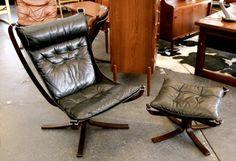 Norwegian Falcon Chair & Stool | 20th Century Scandinavia