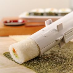 The Sushi Bazooka / Erase the painstaking hours of making the perfect homemade sushi with this stunning culinary masterpiece called the Sushi Bazooka. http://thegadgetflow.com/portfolio/sushi-bazooka/