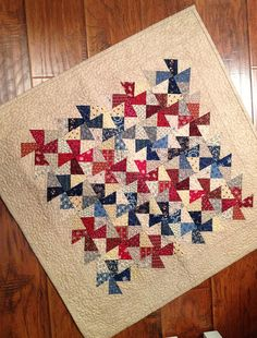 Finished shop sample table topper by myreddoordesigns on Etsy, $55.00