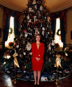 treeclintons 1993 white house christmas tree christmas lights christmas decorations christmas past