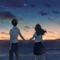 Hv a lovely evening 🌹🌹🌹🌹🌹 Love Cartoon Couple, Anime Love Couple, Manga Couple, Anime Couples Manga, Cute Anime Couples, Cute Couple Drawings, Cute Couple Art, Anime Cupples, Anime Kawaii