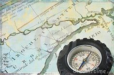 Antique Map Of Upstate New York And Retro Compass - Download From Over 27 Million High Quality Stock Photos, Images, Vectors. Sign up for FREE today. Image: 22352303
