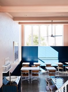 A Melbourne Restaurant with an Au Courant Color Palette: Remodelista