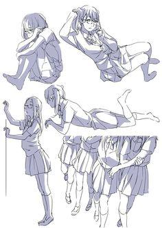 anime how to draw Manga Poses, Anime Poses, Drawing Base, Figure Drawing, Character Drawing, Character Design, Comic Book Drawing, Manga Drawing Tutorials, Drawing Tips