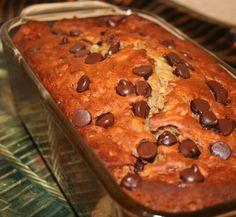 chocolate chip banana oat flax bread