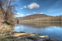 The Allegheny River at Fisherman's Cove - 10 miles downstream from Franklin, PA.  April 26, 2013