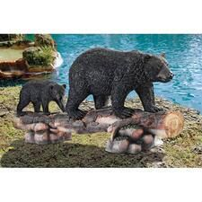 Mother Black Bear and Cub Grand Scale Animal Sculpture