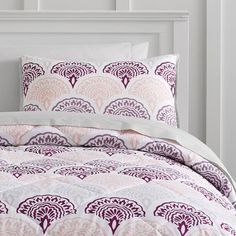 Feather Scallop Value Comforter Set with Sheets, Pillowcase, Comforter + Sham   PBteen