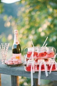 Pink champagne  - wedding reception