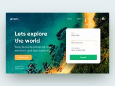 Aven - Book holiday UI designed by vijay verma. Connect with them on Dribbble; Travel Website Design, Design Your Own Website, Website Design Layout, Web Design Tips, Character Web, Holiday Booking, Ui Design Inspiration, Design Ideas, Free Instagram