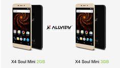 Allview a lansat astazi X4 Soul mini, un nou smartphone pe care il lauda ca fiind cel mai accesibil dispozitiv din aceasta serie.