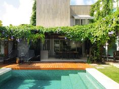 Swimming Pool Designs, Swimming Pools, Patio, Decoration, Future House, Outdoor Gardens, Architecture Design, Beach House, Modern Design