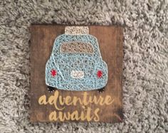 Adventure Awaits VW Bug, home decor, travel decor, adventure decor, Volkswagen Beetle, volkswagen bug, road trip