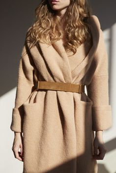 Lauren Manoogian Tan Capote Coat